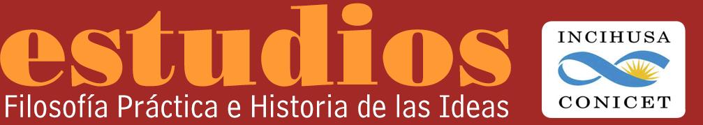 Logotipo revista Estudios de filosofía práctica e historia de las ideas.