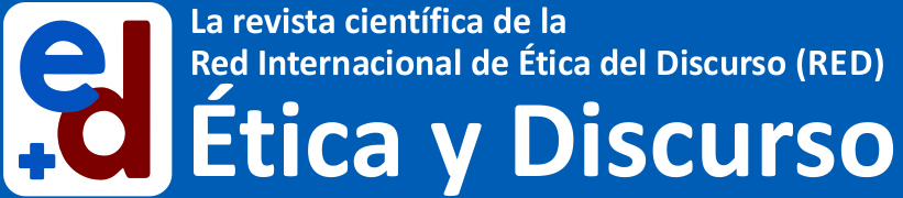 Logotipo revista ética y discurso.